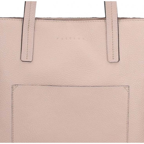 Dámská kožená kabelka Facebag Greta - světle růžová