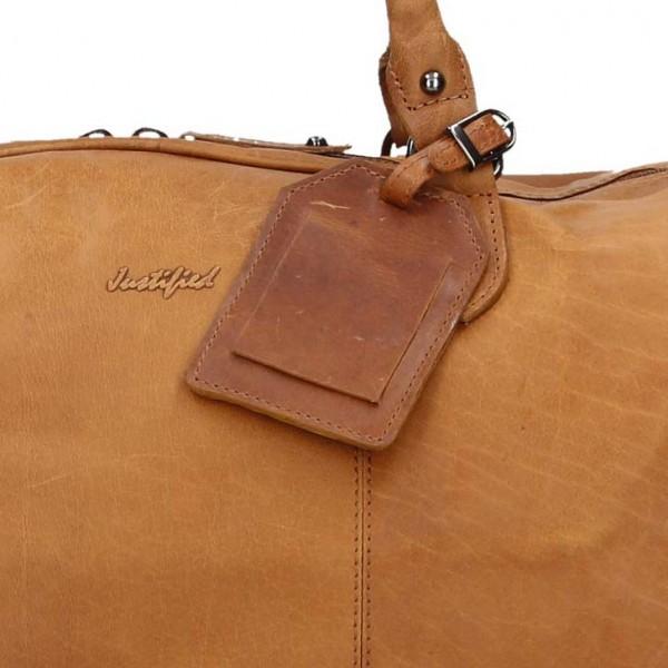 Pánská celokožená cestovní taška Justified Stavros - světle hnědá