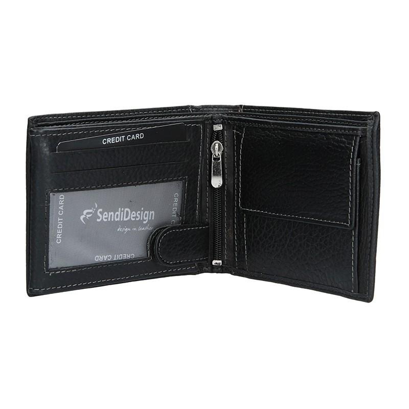 Pánská kožená peněženka SendiDesign 5503 FH - černá