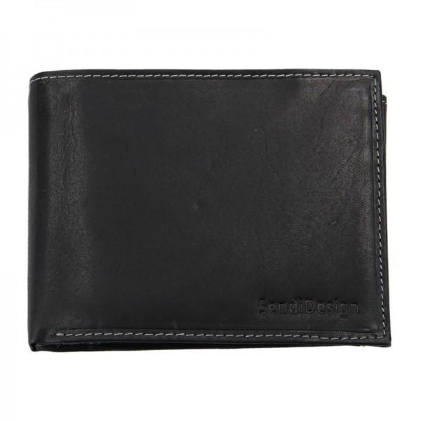 Pánská kožená peněženka SendiDesign 5601 (P) VT - černá
