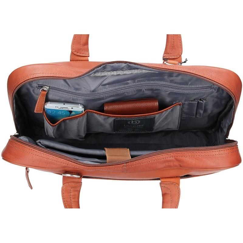 Pánská kožená taška přes rameno Bugatti Sartoria - koňak