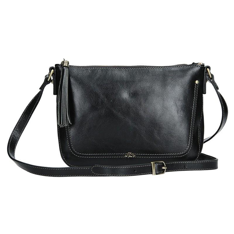 Kožená dámská crosbody kabelka Katana Rena - černá