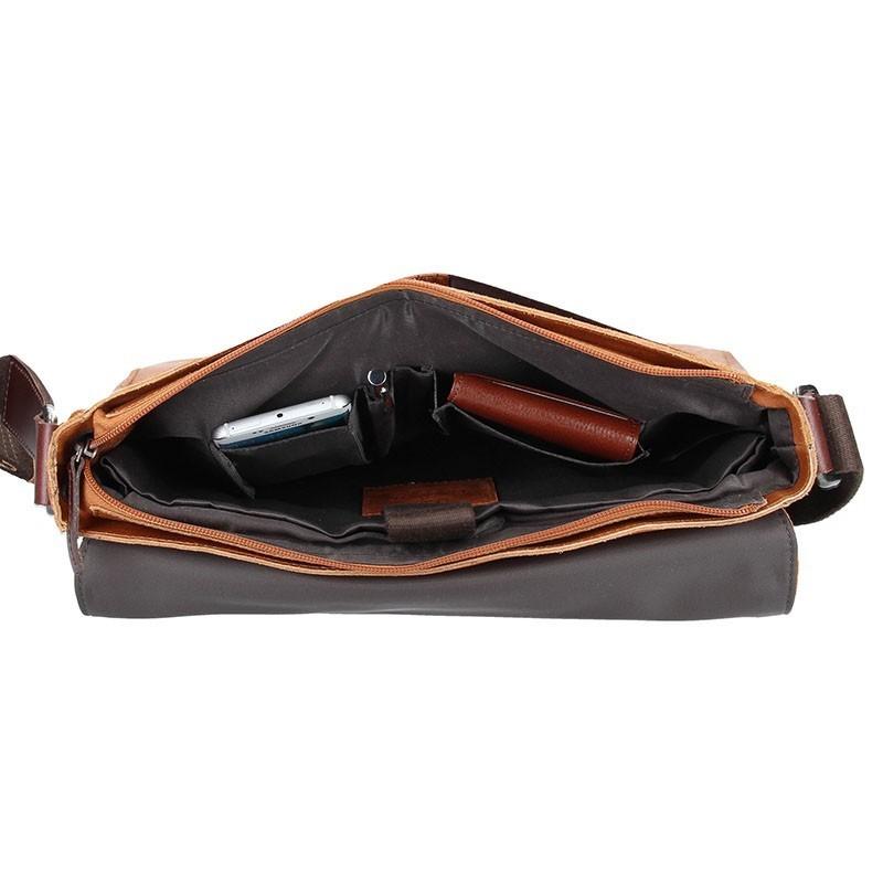 Pánská taška přes rameno Bugatti Grinta D - hnědá