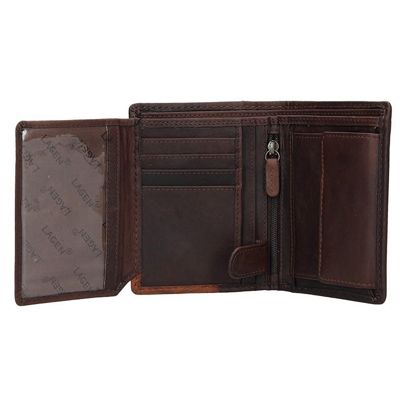 Pánská kožená peněženka Lagen Thore - hnědá