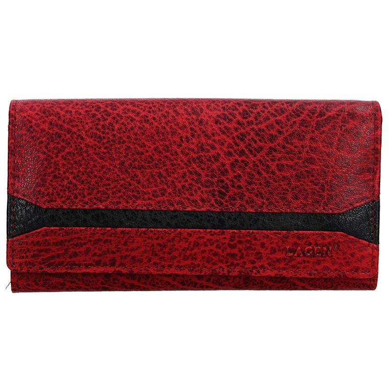 Dámská peněženka Lagen Marion - červená 04ae59d4c46