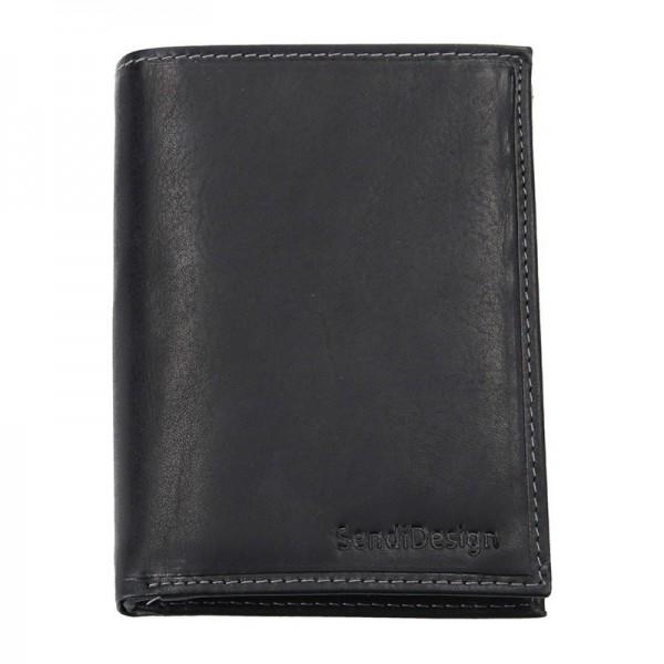 Pánská kožená peněženka SendiDesign 5602 (P) VT - černá