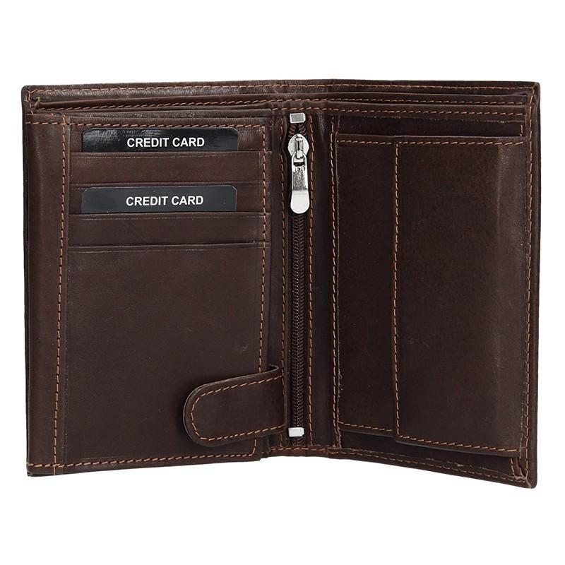 Pánská kožená peněženka SendiDesign 5602 (P) VT - hnědá