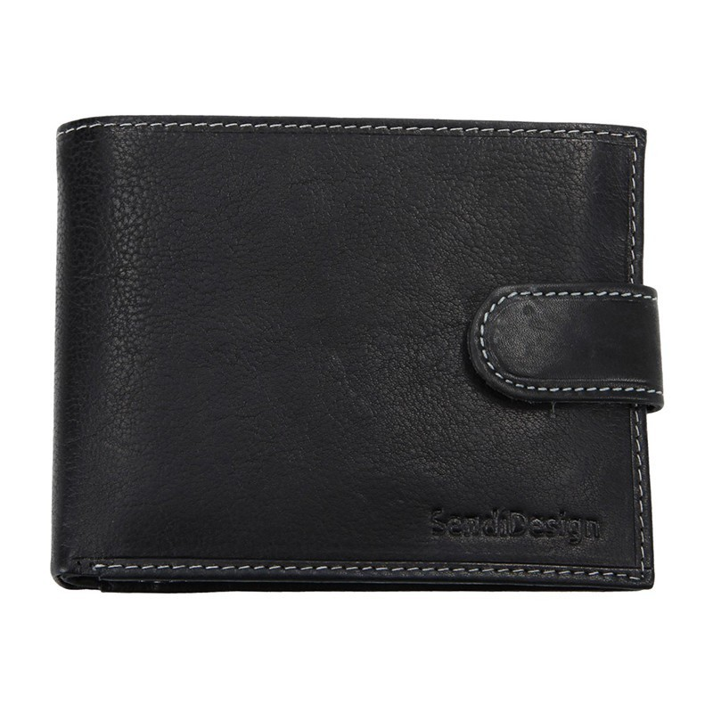 Pánská kožená peněženka SendiDesign 5700 (AT) VT - černá