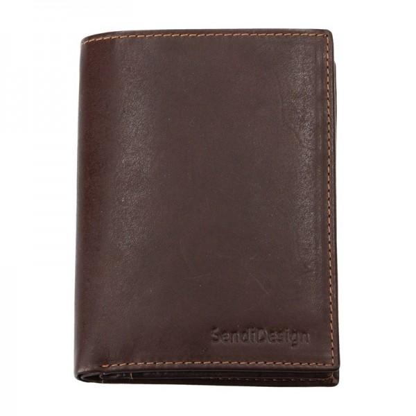 Pánská kožená peněženka SendiDesign 5741 (P) VT - hnědá