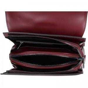 Elegantní kožený dámský batoh Hexagona Parres - černá
