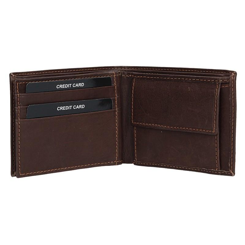 Pánská kožená peněženka SendiDesign 6001 (P) VT - hnědá