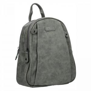 Moderní ekokožený dámský batoh Piace Molto - šedá