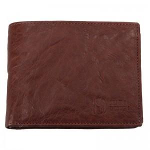 Pánská kožená peněženka SendiDesign SNW6856 - tmavě hnědá
