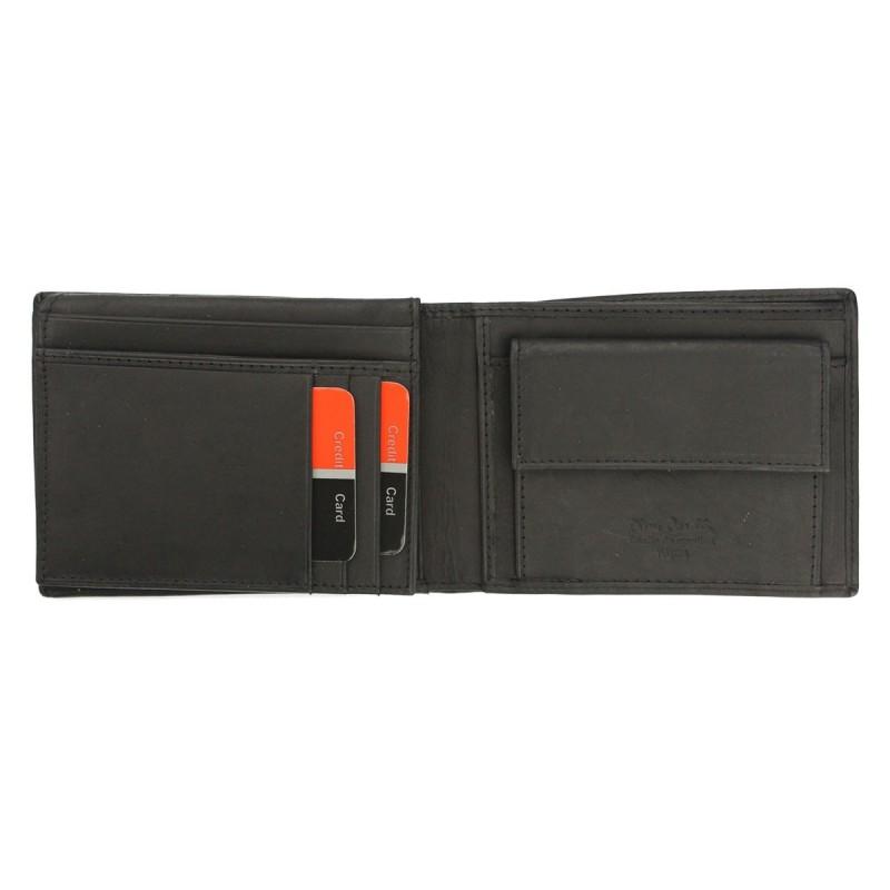 Pánská kožená peněženka Pierre Cardin David - černá