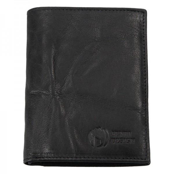 Pánská kožená peněženka SendiDesign SNW6945 - černá