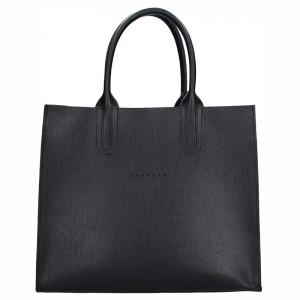 Dámská kožená kabelka Facebag Monarchy - černá