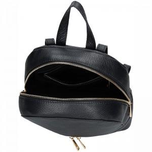 Dámský kožený batoh Facebag Paloma - černá