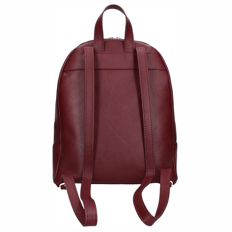 2165c53998 Dámský kožený batoh Facebag Paloma - vínová