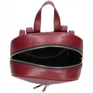 Dámský kožený batoh Facebag Paloma - vínová