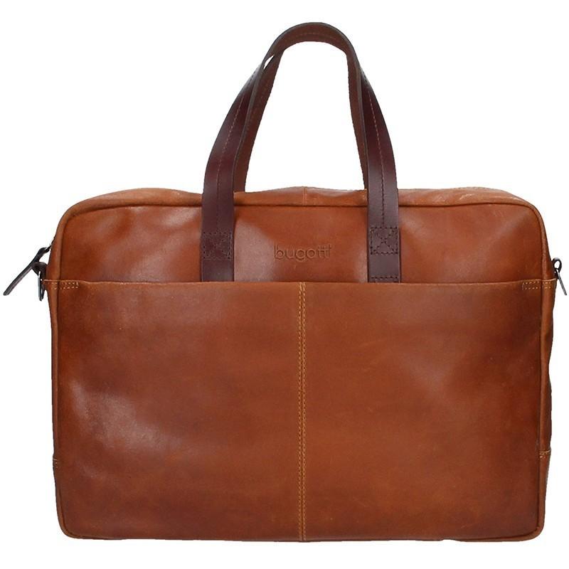 Pánská kožená taška přes rameno Bugatti Elvin - hnědá