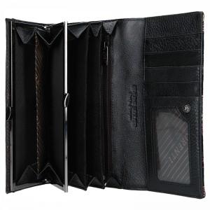 Dámská kožená peněženka Lorenti Alva - černo-zelená