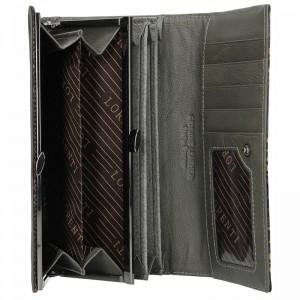 Dámská kožená peněženka Lorenti Dana - černo-zlatá