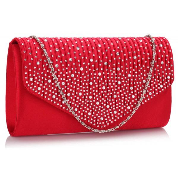 Dámské psaníčko LS Fashion Alaina - červená