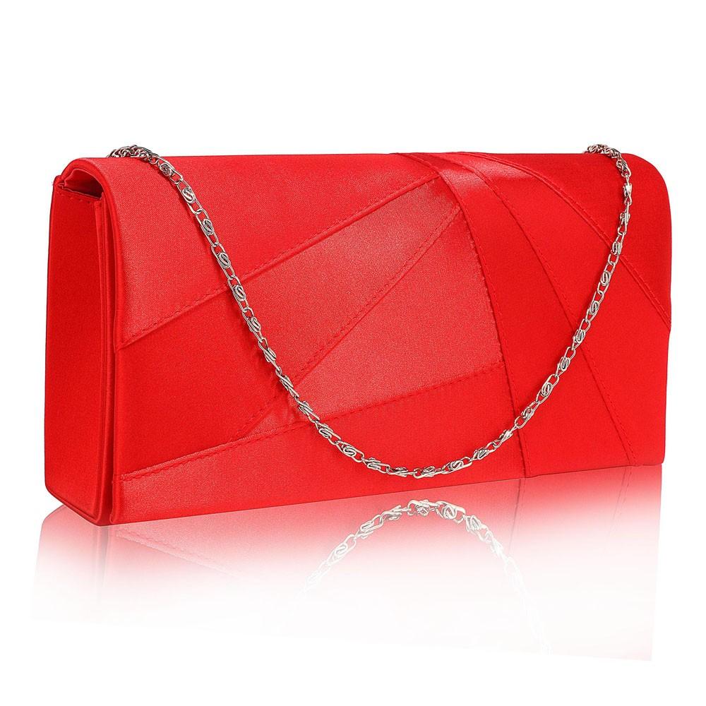 Dámské psaníčko LS Fashion Quinn - červená