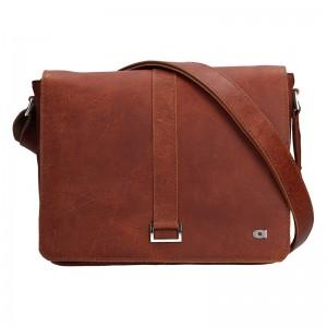 Unisex kožená taška Daag Funky GO! 39 - hnědá