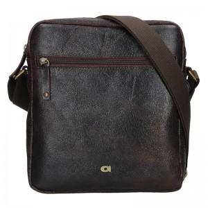 Pánská kožená taška Daag Tobias - tmavě hnědá