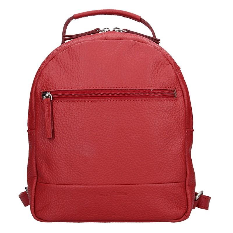 Dámský kožený batoh Daag Native 11 - červená