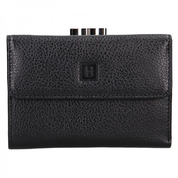 Dámská kožená peněženka Hexagona Fiona - černá