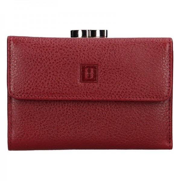 Dámská kožená peněženka Hexagona Fiona - vínová