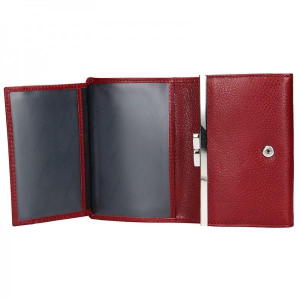 Dámská kožená peněženka Hexagona Leila - vínová
