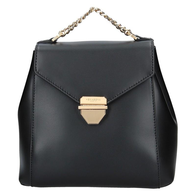 Elegantní dámský kožený batoh Hexagona Reina - černá 45581fd306