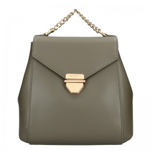 Elegantní dámský batoh Hexagona Reina - olivová