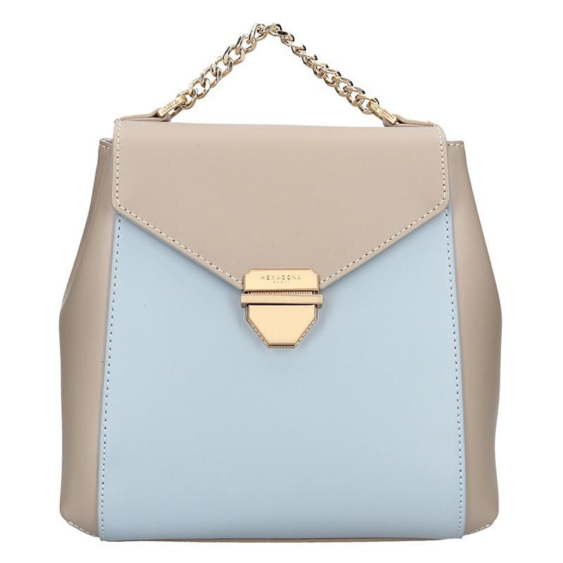 Elegantní dámský batoh Hexagona Reina - béžovo-modrá