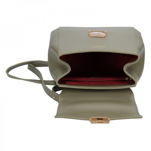 Elegantní dámský kožený batoh Hexagona Reina - šedo-béžová