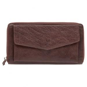 Dámská kožená peněženka Lagen Lena - hnědá