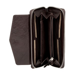 Dámská kožená peněženka Lagen Lena - tmavě hnědá