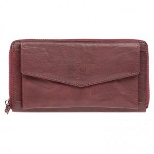 Dámská kožená peněženka Lagen Lena - vínová