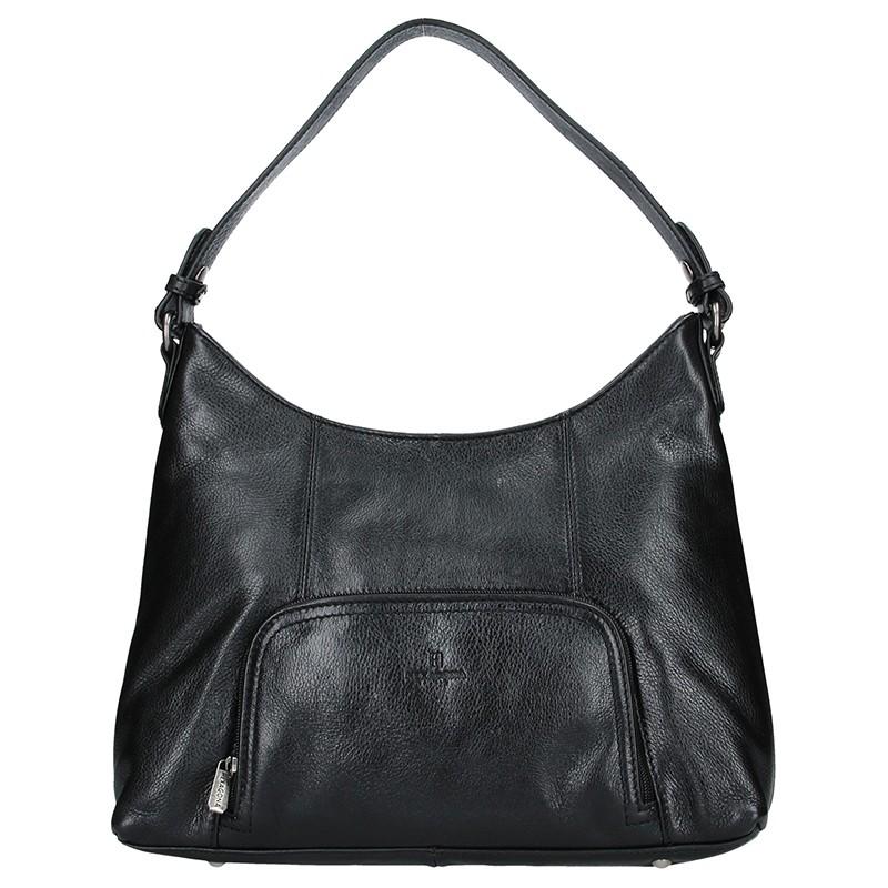 Dámská kožená kabelka Hexagona Norra - černá