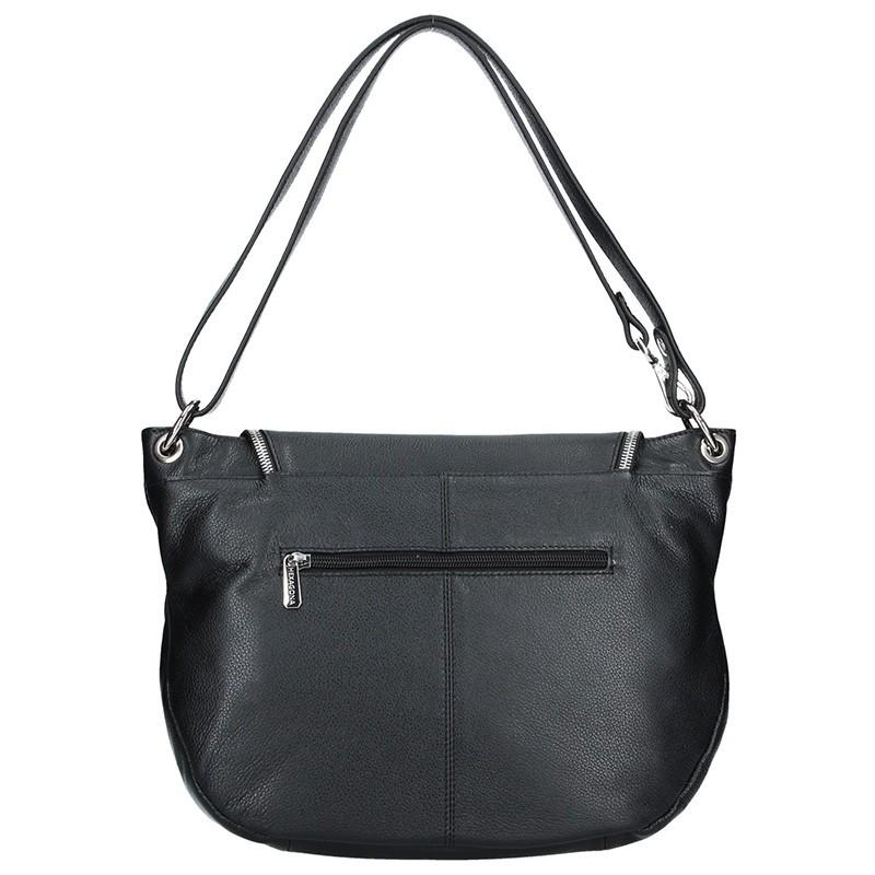Dámská kožená kabelka Hexagona Viktoria - černá