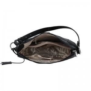 Dámská kožená kabelka Hexagona Polly - černá
