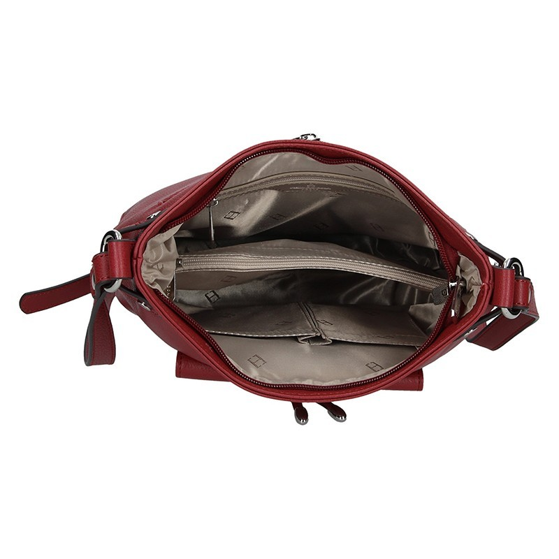 Kožená dámská crossbody kabelka Hexagona Ritta - černá