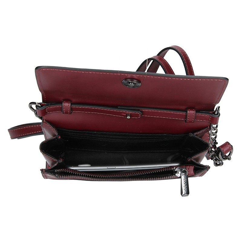 Dámská kožená crossbody kabelka Sindra - černá