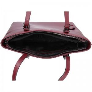 Dámská kožená kabelka Hexagona Viva - vínová