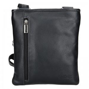 Pánská kožená taška přes rameno SendiDesign Richard - černá