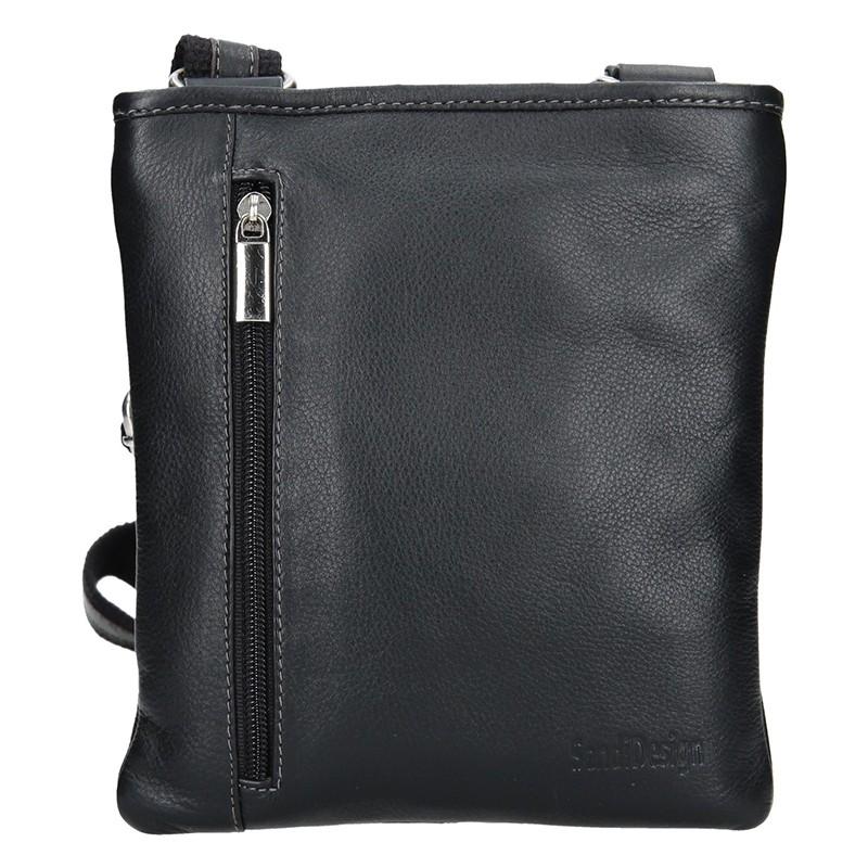 Pánská kožená taška přes rameno SendiDesign Richard - černá 3f28550a6e