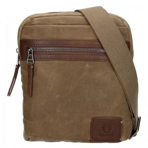 Pánská taška přes rameno Lerros Kevin - tmavě béžová
